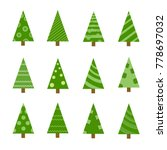 collection of christmas trees ... | Shutterstock .eps vector #778697032