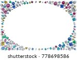 many colorful diamonds and...   Shutterstock . vector #778698586