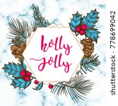 holly jolly christmas greeting...   Shutterstock .eps vector #778699042