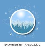 vector christmas wreath with... | Shutterstock .eps vector #778703272
