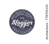 round badge video blogger with... | Shutterstock .eps vector #778705135