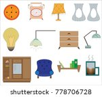 set of accessories for home... | Shutterstock .eps vector #778706728