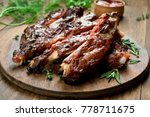 grilled sliced barbecue pork... | Shutterstock . vector #778711675