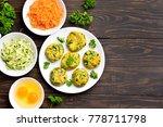 vegetarian cutlet from carrot ... | Shutterstock . vector #778711798