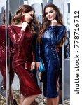 two beautiful sexy woman friend ... | Shutterstock . vector #778716712