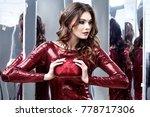 beautiful sexy woman wear lux... | Shutterstock . vector #778717306