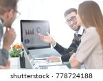 business team discussing... | Shutterstock . vector #778724188