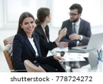 closeup.employees in the office | Shutterstock . vector #778724272