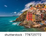 view on the colorful houses... | Shutterstock . vector #778725772