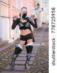 young beautiful ninja warrior...   Shutterstock . vector #778725958
