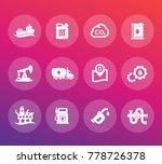 petroleum industry icons set ... | Shutterstock .eps vector #778726378