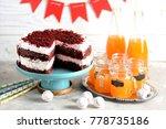 homemade cake red velvet on a... | Shutterstock . vector #778735186