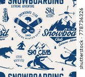 ski and snowboard club seamless ... | Shutterstock .eps vector #778736326