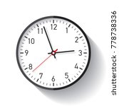 clock icon in flat style  timer ... | Shutterstock .eps vector #778738336