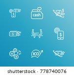 money transfer icon line set... | Shutterstock .eps vector #778740076