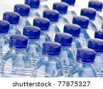 Rows Of Water Bottles Isolated...