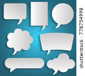 speech bubbles set with shadows.... | Shutterstock .eps vector #778754998