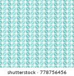 geometric leaves vector... | Shutterstock .eps vector #778756456