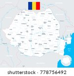 romania map and flag   high... | Shutterstock .eps vector #778756492