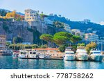 ships at port of marina grande... | Shutterstock . vector #778758262