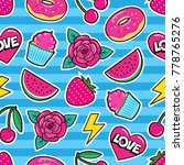 cute seamless pattern with... | Shutterstock .eps vector #778765276