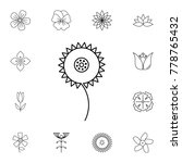 abstract type of flowers line... | Shutterstock .eps vector #778765432