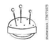 figure pin and pincushion... | Shutterstock .eps vector #778771075