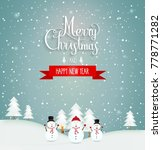 merry christmas and happy new... | Shutterstock .eps vector #778771282