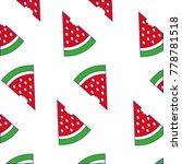 line color delicous watermelon...   Shutterstock .eps vector #778781518