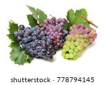 grapes on white background  | Shutterstock . vector #778794145