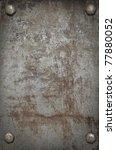 grunge background  metal plate... | Shutterstock . vector #77880052