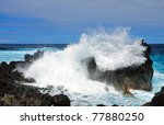Crashing Waves Found On The...