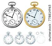 hand drawn pocket watch...   Shutterstock .eps vector #778814965