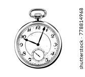 hand drawn pocket watch black... | Shutterstock .eps vector #778814968