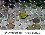 ten baht coin  set on thai baht....   Shutterstock . vector #778816822