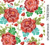 colorful floral seamless vector ... | Shutterstock .eps vector #778825846