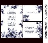 vintage delicate invitation... | Shutterstock . vector #778826092