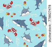vector seamless pattern with... | Shutterstock .eps vector #778827478