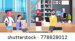 coworking office interior with... | Shutterstock .eps vector #778828012