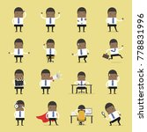 vector set of business people.... | Shutterstock .eps vector #778831996