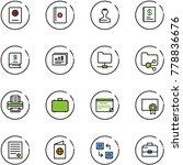 line vector icon set   passport ... | Shutterstock .eps vector #778836676