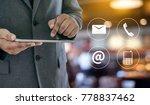 contact us  customer support... | Shutterstock . vector #778837462