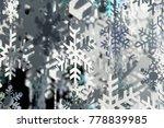 christmas snow flake background ... | Shutterstock . vector #778839985