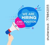 we are hiring vacancy open... | Shutterstock .eps vector #778842055