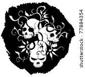 skulls pattern   Shutterstock .eps vector #77884354