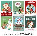 vintage christmas poster design ...   Shutterstock .eps vector #778844836