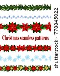 set of six seamless christmas... | Shutterstock .eps vector #778845022