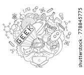 vector cartoon doodle... | Shutterstock .eps vector #778845775