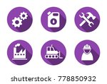 set of industrial flat icons. | Shutterstock .eps vector #778850932