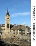 church in cornwall  uk. | Shutterstock . vector #77885227
